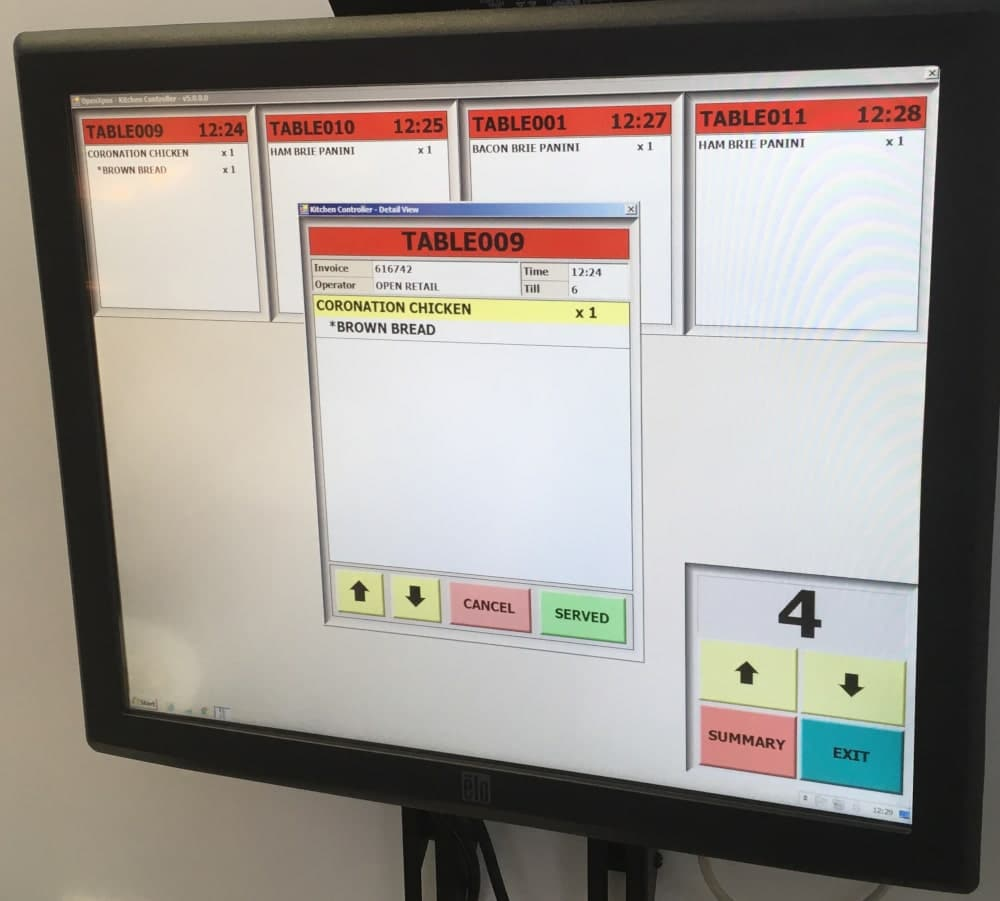 Kitchen Controller Screen